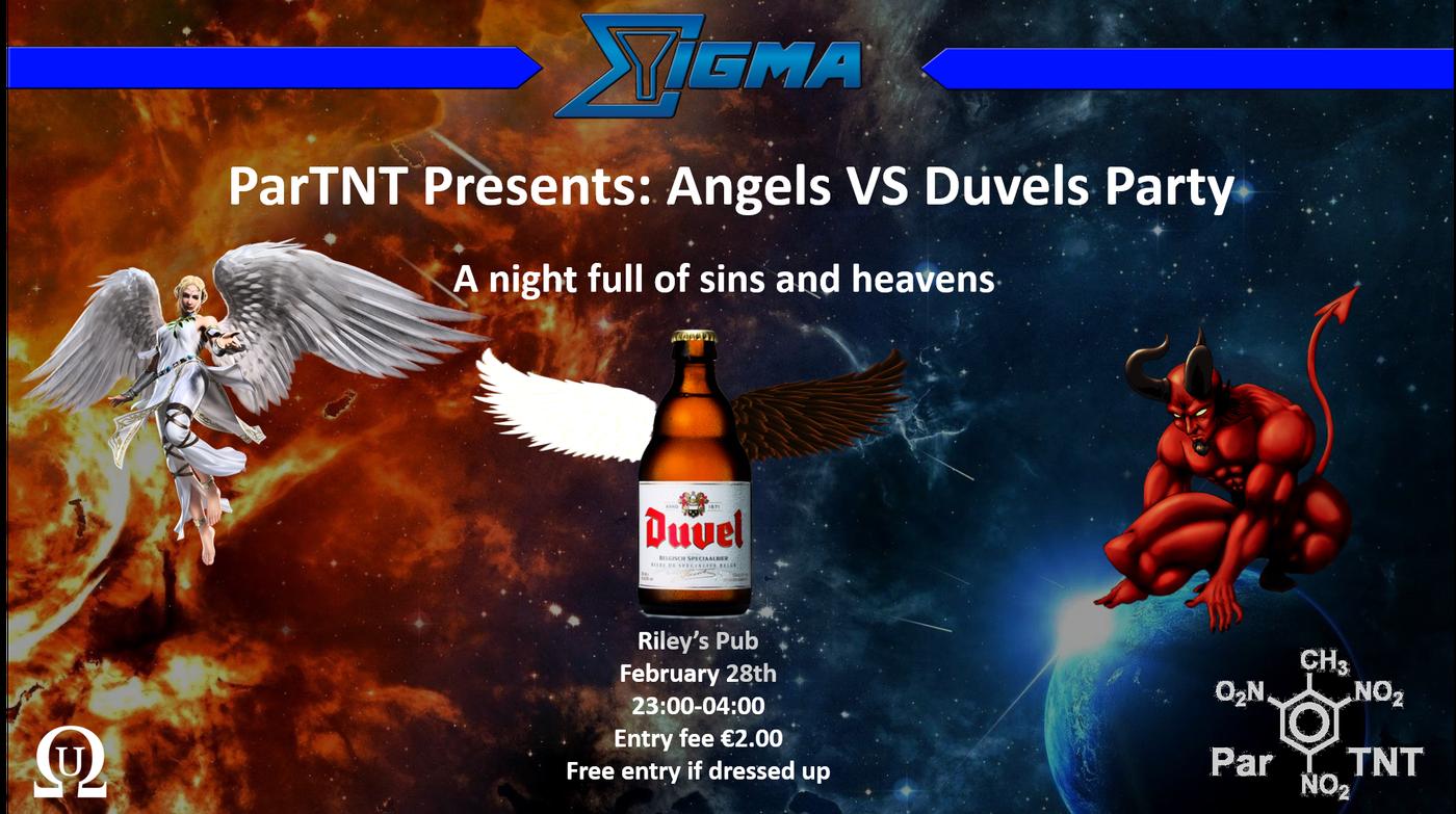 ParTNT Presents: Angels VS Duvels