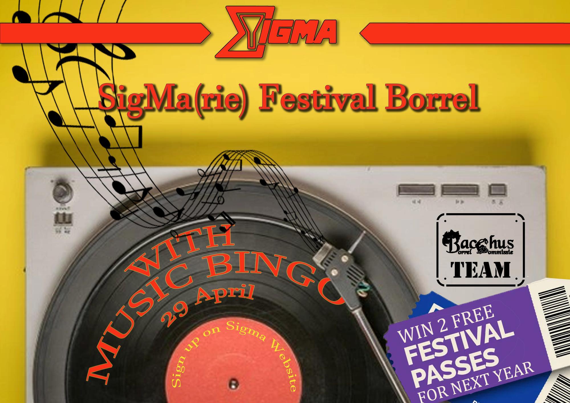 Sigma(rie) Festival Borrel